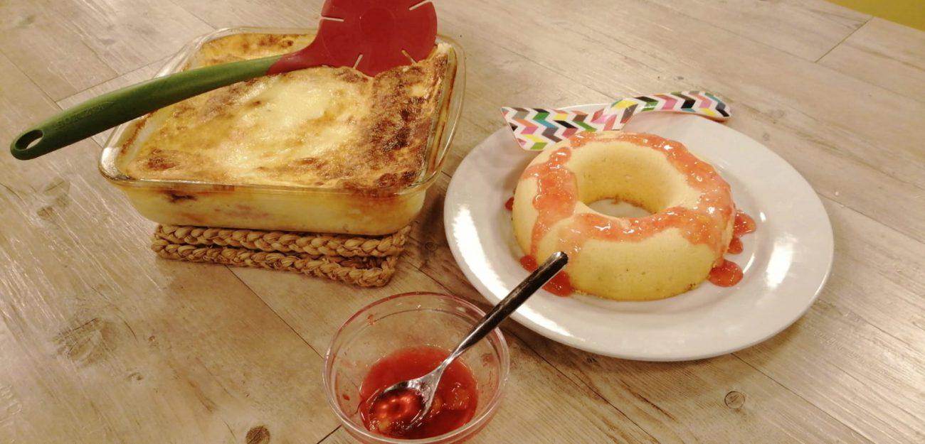 Pastel de pan de molde + Torta de queso