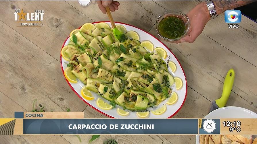 Carpaccio de zucchinis