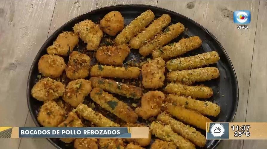Bocados de pollo rebozados con salsas Dos Anclas