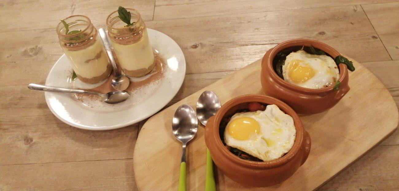 Cazuela de garbanzos y acelgas + Tiramisú en vaso