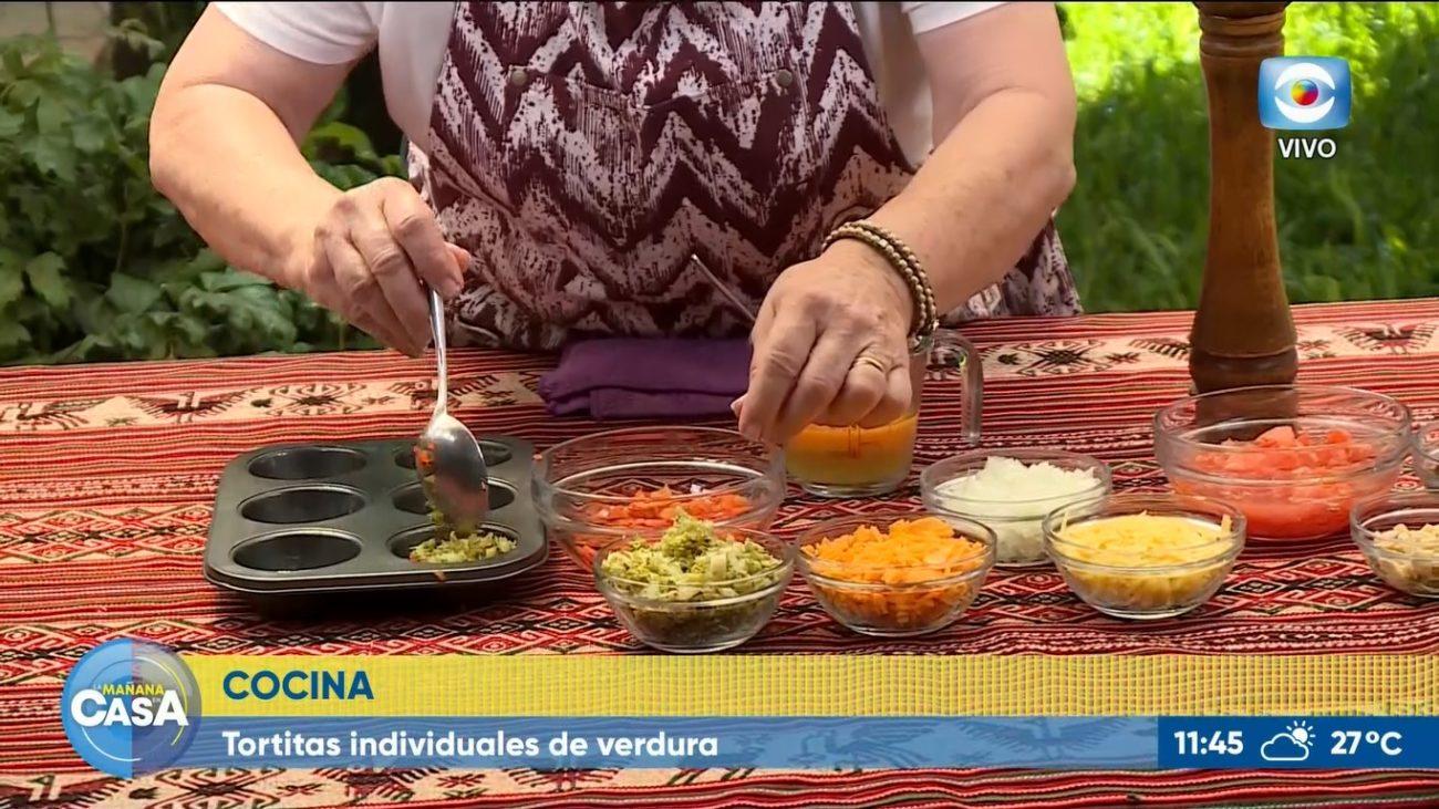 Tartitas individuales de verduras