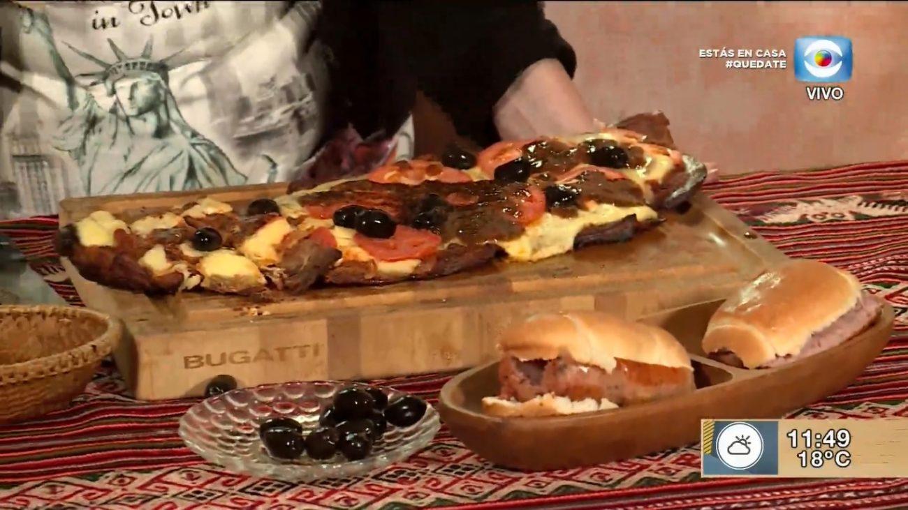 Matambre a la pizza con chimichurri