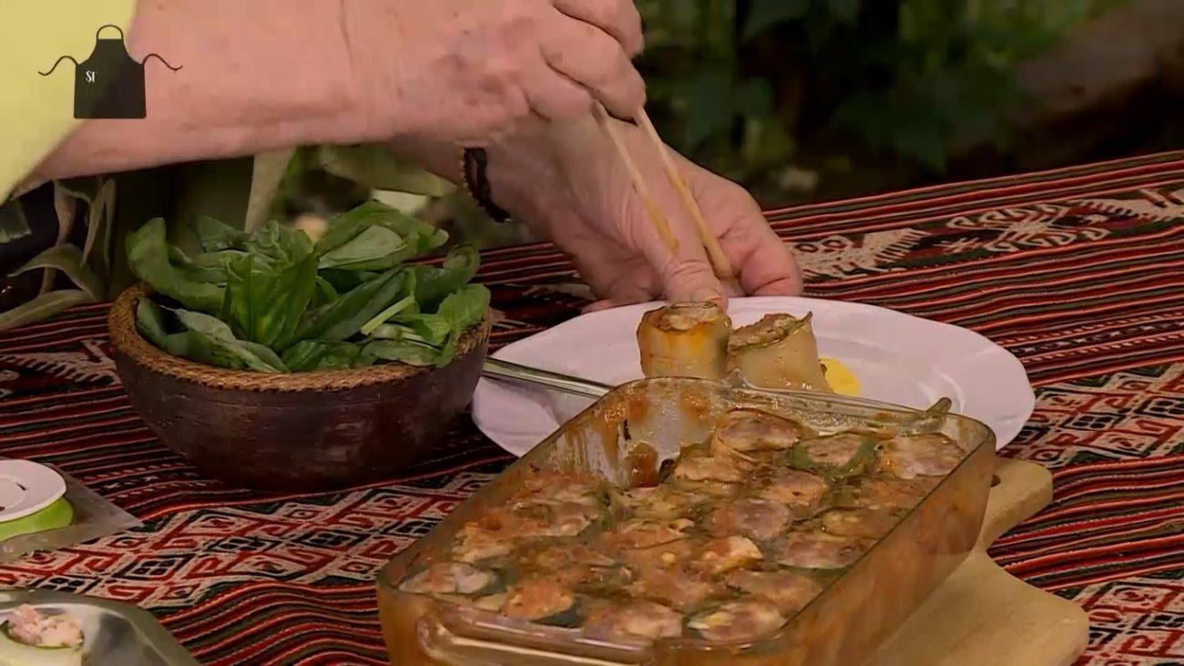 Rollitos de verdura y carne con Salsa Dos Anclas